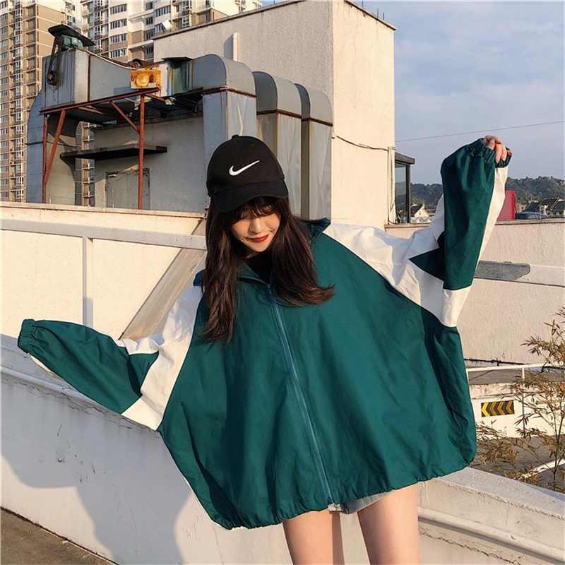 Jacken Frauen Trendy Freizeit Koreanische Stil Allgleiches Harajuku Gedruckt Frauen Kleidung Einfache Mantel Weibliche Studenten Streetwear Neue