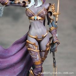 Game Figuur World Of Warcraft Sylvanas Ghost Koningin Standbeeld Garage Kit Model Prachtige Decoratie