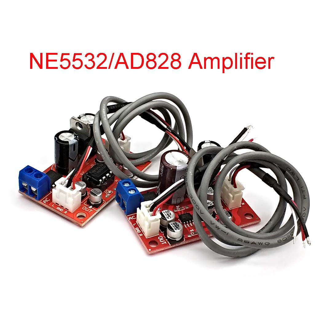 NE5532 AD828 Audio OP AMP Moving Coil Microphone Preamps Pre-Amplifier Pre-amp Magnetic Head Phono Amplifier Board DC9-24V
