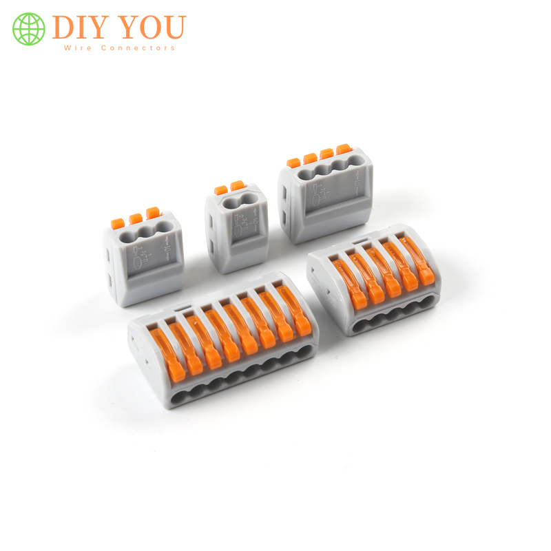 30/50/100Pcs Led light 2 <font><b>3</b></font> <font><b>4</b></font> 5 8 <font><b>Pin</b></font> TYPE Wire connectors mini fast universal compact Wiring Connector Connection terminal block image