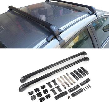 Anti Theft Car Roof Bars Adjustable Cross Bar System Universal Car Travel Luggage Carrier Lockable Aluminum Bars Rack image