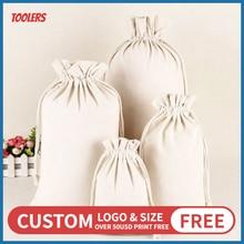 50PCS Fungus Lace Canvas Drawstring Bag 100 Cotton Eco Friendly Durable Storage