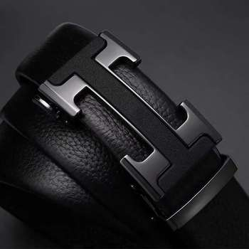 Mens Belts Luxury Automatic Buckle Genune Leather Strap Black for Belt Designers Brand High Quality