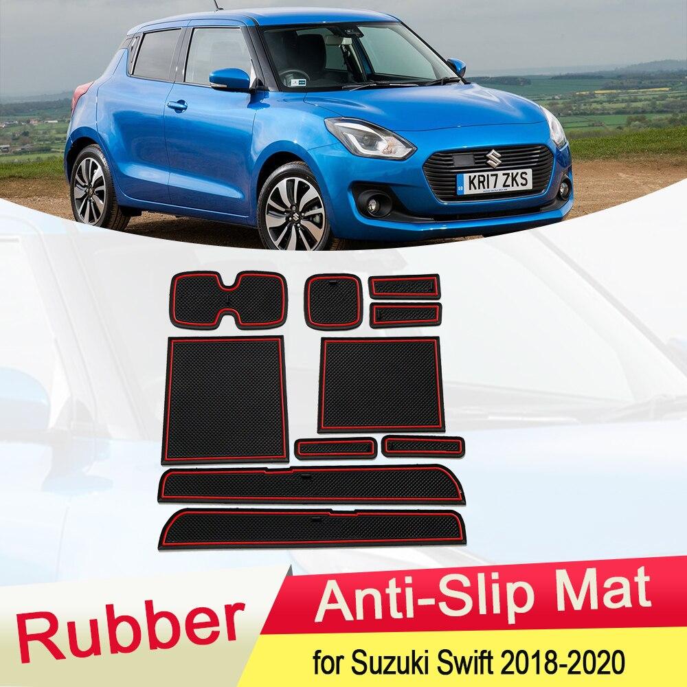 Для Suzuki Swift ZC33S 2018 2019 2020 резиновый противоскользящий коврик для двери Groove чашка для телефона слот для ворот Подушка аксессуары для автомобил...