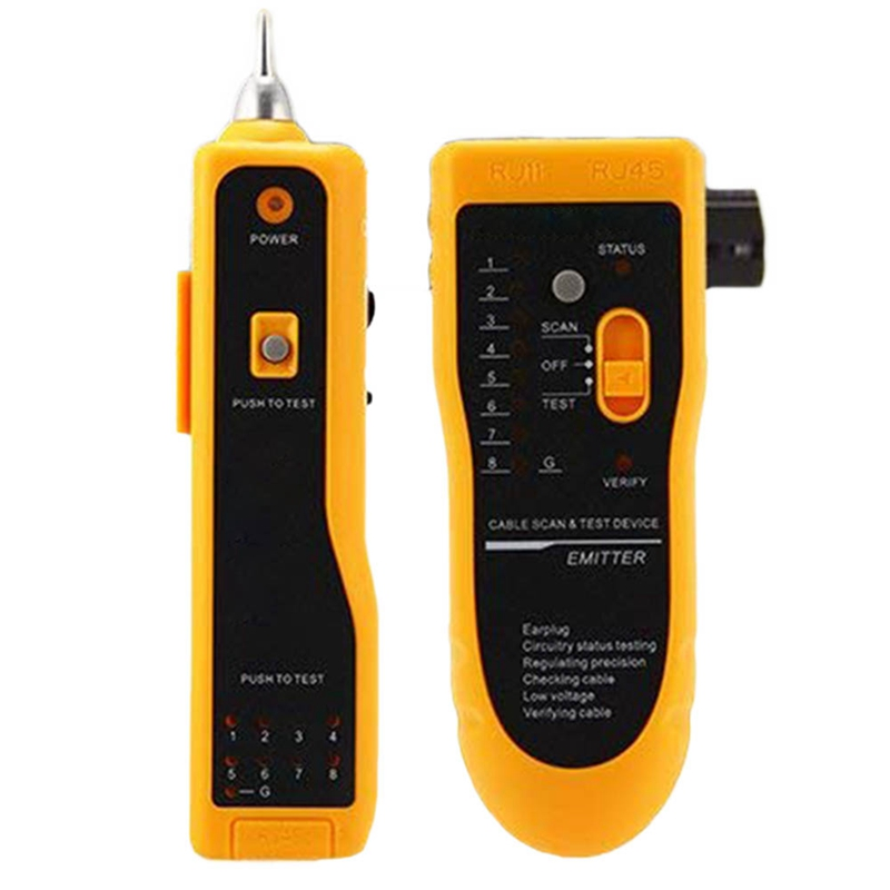 Wire Tracker,Rj11 Rj45 Line Finder Cable Tester For Network Lan Ethernet Cable Collation, Phone Telephone Line Test Wire Tracer