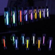 Tritium lampe à gaz porte clés outil lumière automatique porte clés lumières de secours de sauvetage pour la sécurité en plein air et les outils de survie