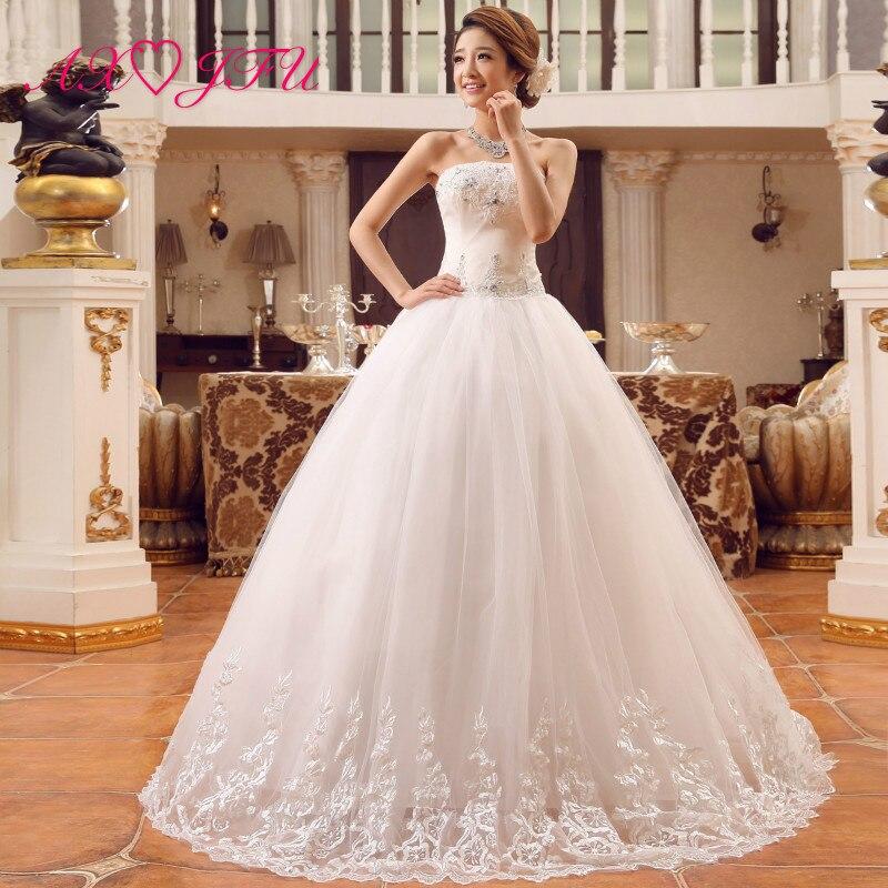AXJFU beauté fleur dentelle robe de mariée blanche vintage bretelles perles cristal grand arc sans manches fleur robe de bal robe de mariée