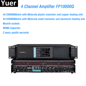 4 Channel Amplifier 4X1300W FP10000Q Line Array Amplifier Audio Professional Power Amplifier Subwoofer Power Supply Amplifier tiancoolkei wl01 a professional professional headphone amplifier hifi bass phone headset audio amplifier