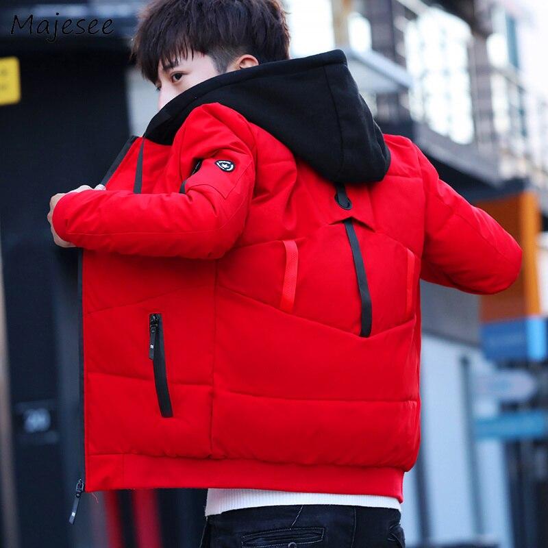 Parkas Men Large Size Hooded Winter Pockets All-match Zipper Simple Korean Parka Mens Trendy Ropa De Hombre 2020 Outerwear Chic
