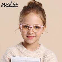 2020 nowych dzieci telefon komórkowy okulary komputerowe nastolatki TR90 zginalny silikonowe okulary 4-12 lat klasy Zero Anti-okulary do niebieskiego światła