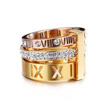 Оптовая продажа кольца с цифрами модные ювелирные изделия цирконом