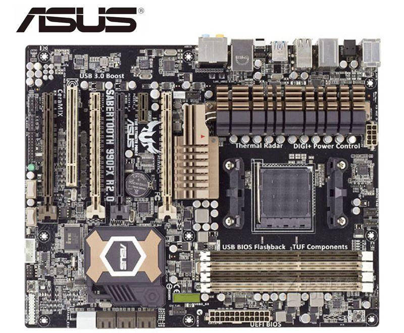 ASUS SABERTOOTH 990FX R2.0 Original Motherboard DDR3 Socket AM3+ USB2.0 USB3.0 32GB  Used Boards Desktop Motherboard