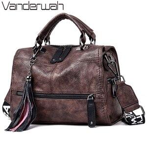 Image 1 - Chaud Vintage cuir glands de luxe sacs à main femmes sacs concepteur sacs à main de haute qualité dames main sacs à bandoulière pour les femmes 2020