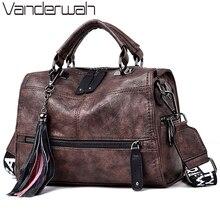 Hot VintageหนังLuxuryกระเป๋าถือผู้หญิงกระเป๋าออกแบบกระเป๋าถือคุณภาพสูงสุภาพสตรีกระเป๋าไหล่กระเป๋าผู้หญิง 2020