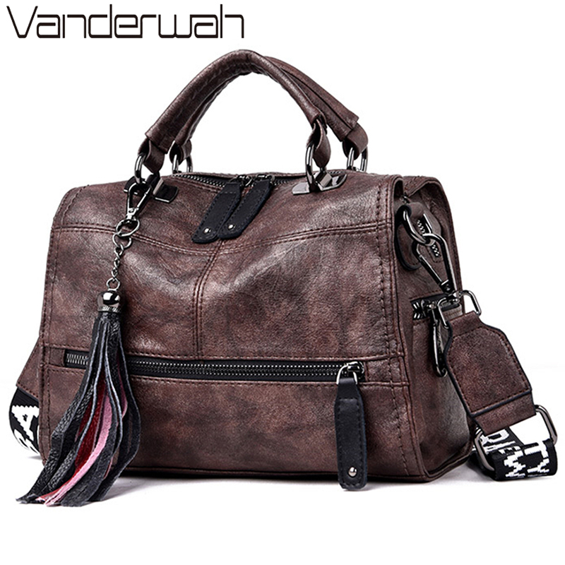 Vintage Sac Genuine Leather Tassels Luxury Handbags Women Bags Designer Handbags High Quality Ladies Hand Bags For Women 2020