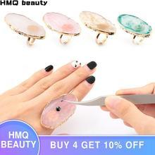 1pcs New Eyelash Extension Glue Rings Acrylic Crystal Individual False Eyelash Glue Holder Eyelash Adhesive Stand Pigment