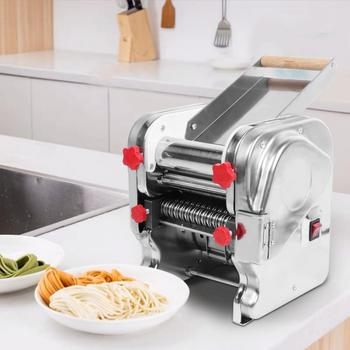 Stainless Steel Noodles Roller Machine for Home Restaurant Commercial EU 220V Electric Kitchen Food Noodle Pasta Press Maker electric noodle press commercial large automatic noodles machine stainless steel high power 2 2kw restaurant canteen appliances