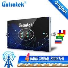 850 1700 1900 אות בוסטרים סלולריים 4 להקת 4G CDMA AWS 800 1800 2100 2600 3G 2G GSM מגבר נייד WCDMA LTE PCS משחזר
