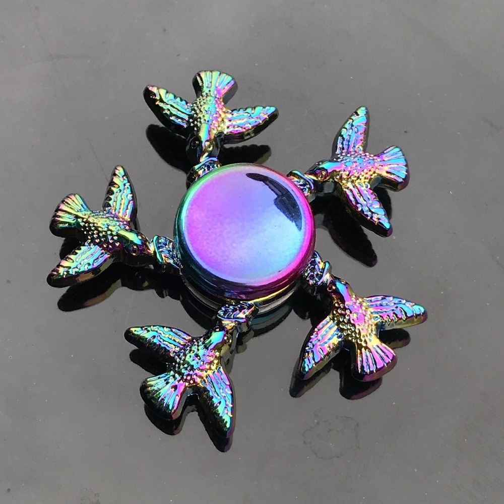 Spinner-Bearing Hand-Fidget-Toys Finger-Spinner Metal-Animals Colorful Stress-Toy Hand-Relieves img4