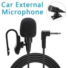 Mayitr profissional microfone de áudio do carro 3.5mm jack plug mic estéreo mini microfone externo com fio para sony jvc pioneiro