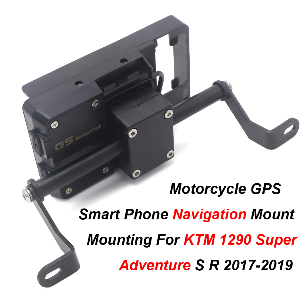 Motorcycle Navigation Bracket Mounting Adapter Bracket Moto Mobile Phone GPS Holder For <font><b>KTM</b></font> <font><b>1290</b></font> <font><b>Super</b></font> <font><b>Adventure</b></font> <font><b>S</b></font>/R 2017- <font><b>2019</b></font> image