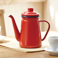 1.1l de alta qualidade esmalte pote de café despeje sobre leite jarro de água barista bule chaleira para fogão a gás e fogão de indução Cafeteiras     -