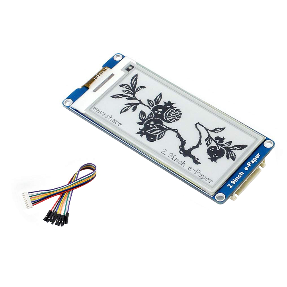 2.9 Inches Epaper Screen Durable Wide Viewing Angle Refresh SPI Interface Two-Color Clear E-ink Display Module For Raspberry Pi