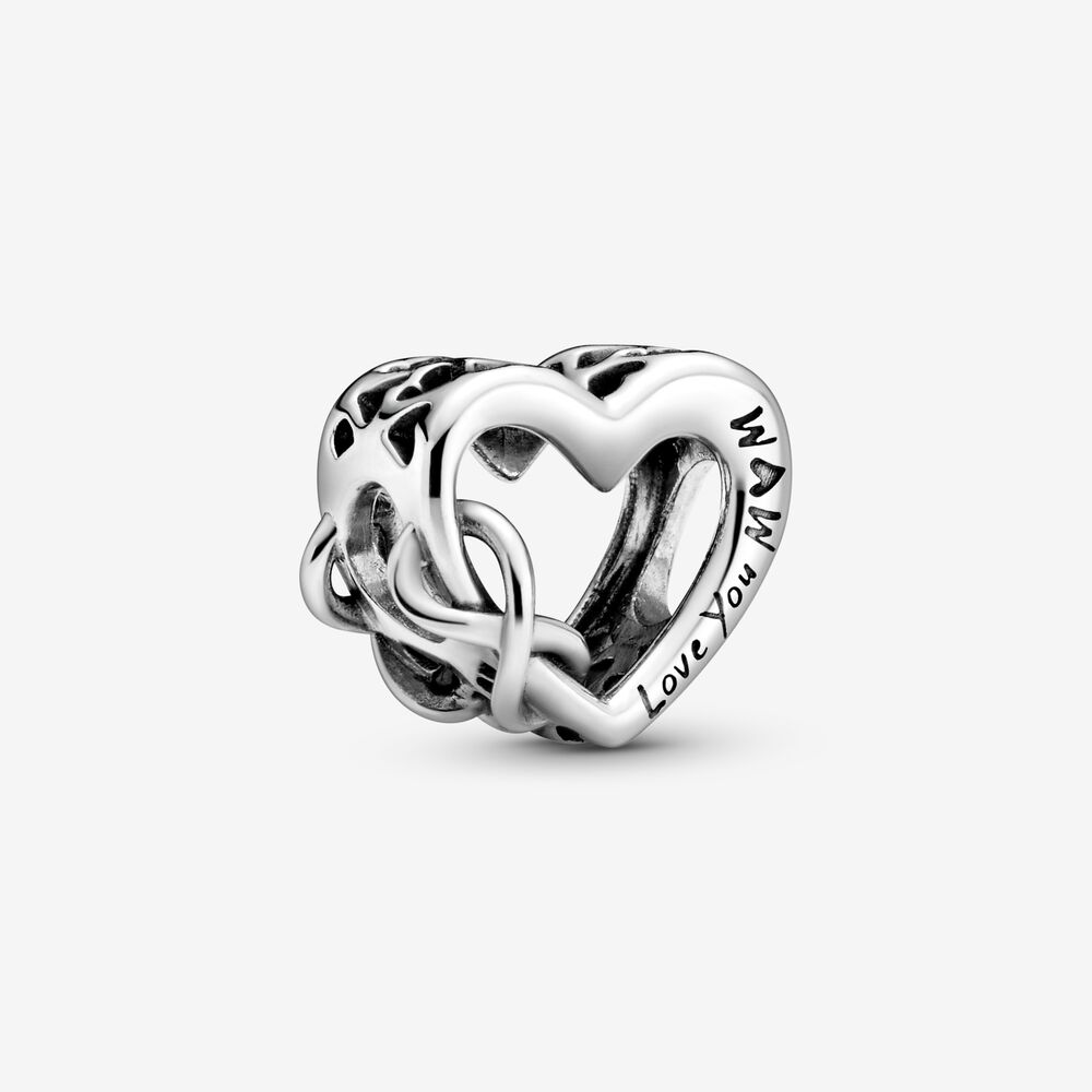 New Mother S Day Silver Colour Love Mum Infinity Heart Bead Charms Fit Original Pandora Bracelet Bangles Jewelry Making Beads Aliexpress