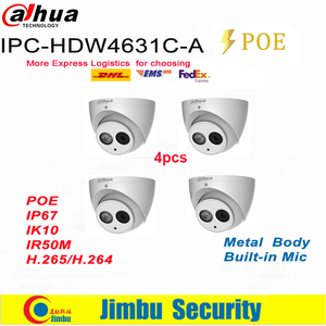 Image 2 - Dahua IP surveilliance מערכת NVR ערכת 4CH 4K וידאו מקליט NVR2104HS P 4KS2 & Dahua 6MP IP מצלמה 4pcs IPC HDW4631C A