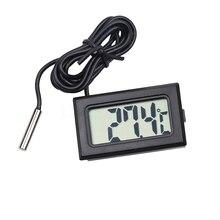 Мини-цифровой термометр с ЖК-дисплеем для автомобиля, гигрометр, датчик температуры для помещений и улицы, измеритель влажности, инструмент...