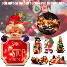 2020 Фея теплый белый Рождественский Декор светодиодный присоска