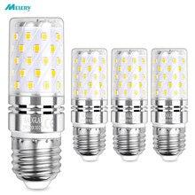 Lâmpadas de milho led e26 e27 lâmpada 12w/9w equivalente incandescente 100w, 6000k luz do dia branco candelabros 1200lm edison parafuso 4 pacote
