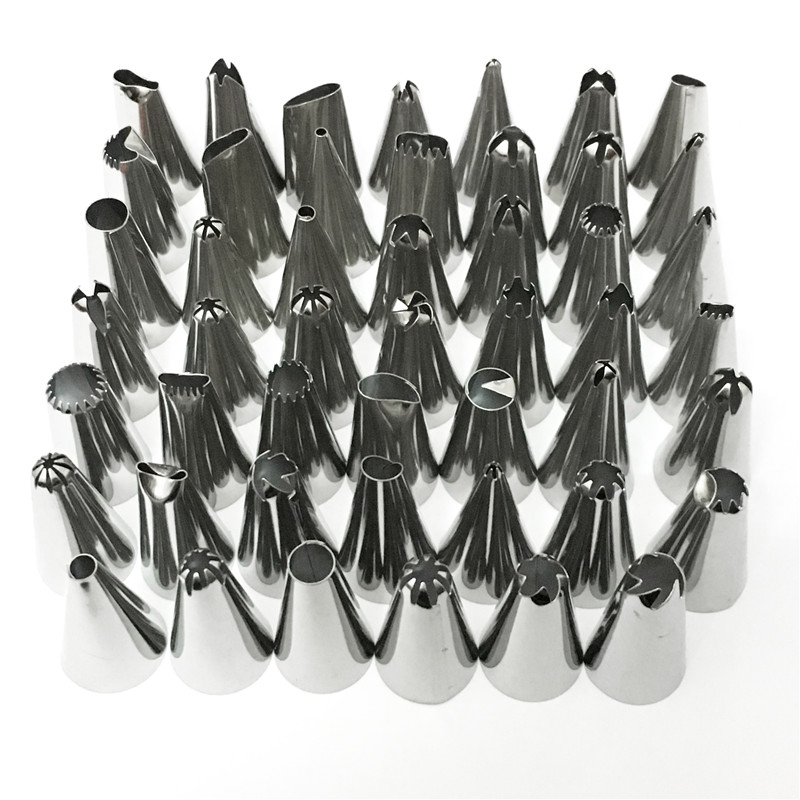 Nozzle Pastry-Bag Cake-Decorating-Tools Icing-Piping-Cream Stainless-Steel Kitchen 48pcs/Lot