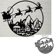 Corte de metal moldes corte natal santa decoração scrapbook papel ofício faca molde lâmina punch stencils