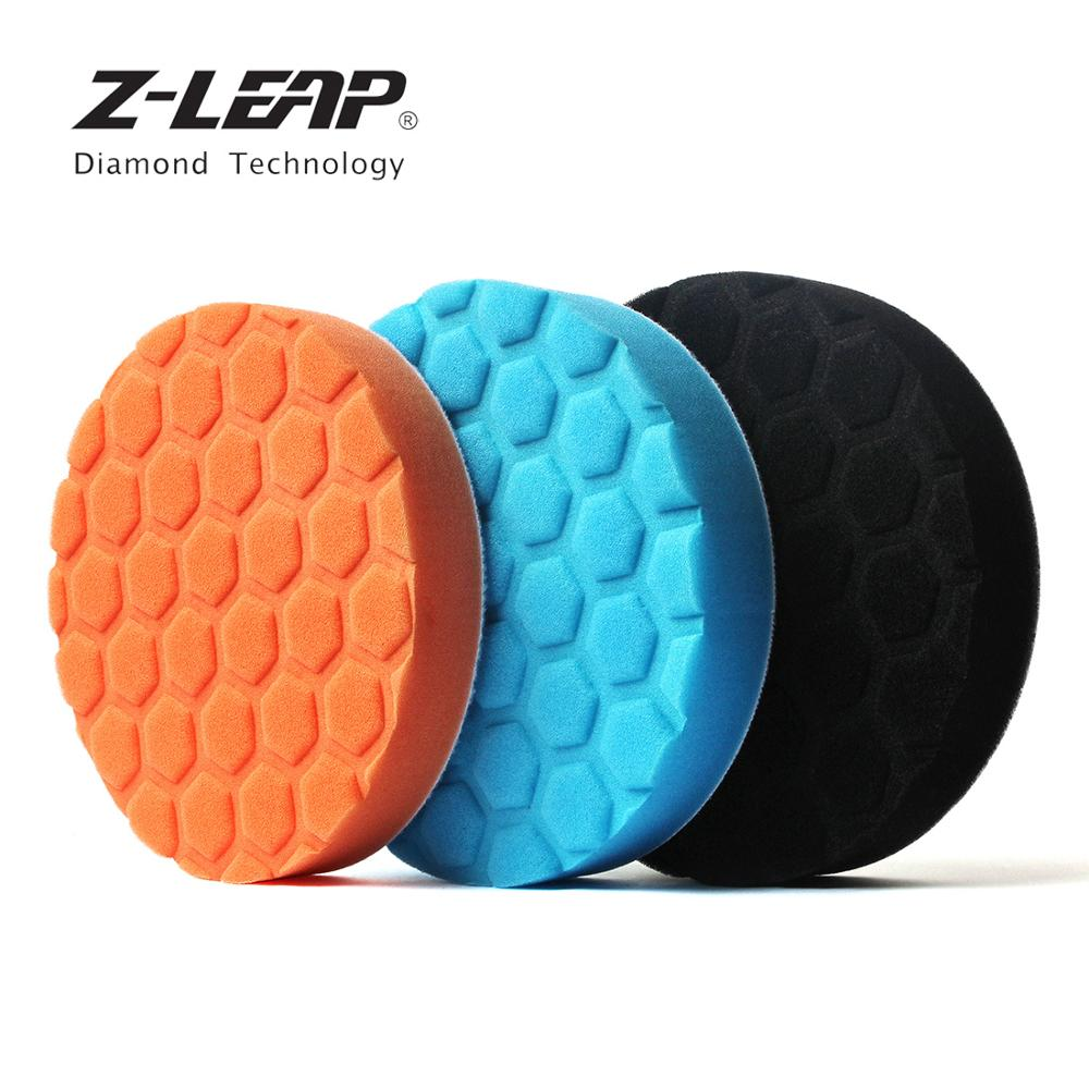 Z-LEAP 6/7 Inch 3pcs Car Foam Sponge Polishing Pads Kit 150/180mm Glass Buffing Waxing Cleaning Disc For Car Polisher Machine