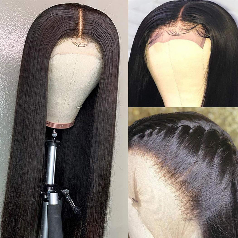 Lace Closure  Wigs Straight Pre Plucked Baby Hair 4x4 150%   Wigs Lace Frontal Wigs  3