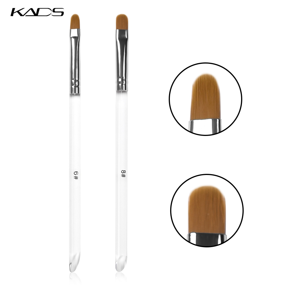 KADS Acrylic Nail Brush Manicure Round Head UV Gel Polish Pen Professional Dotting Pen Carving Tips Manicure Salon Tools