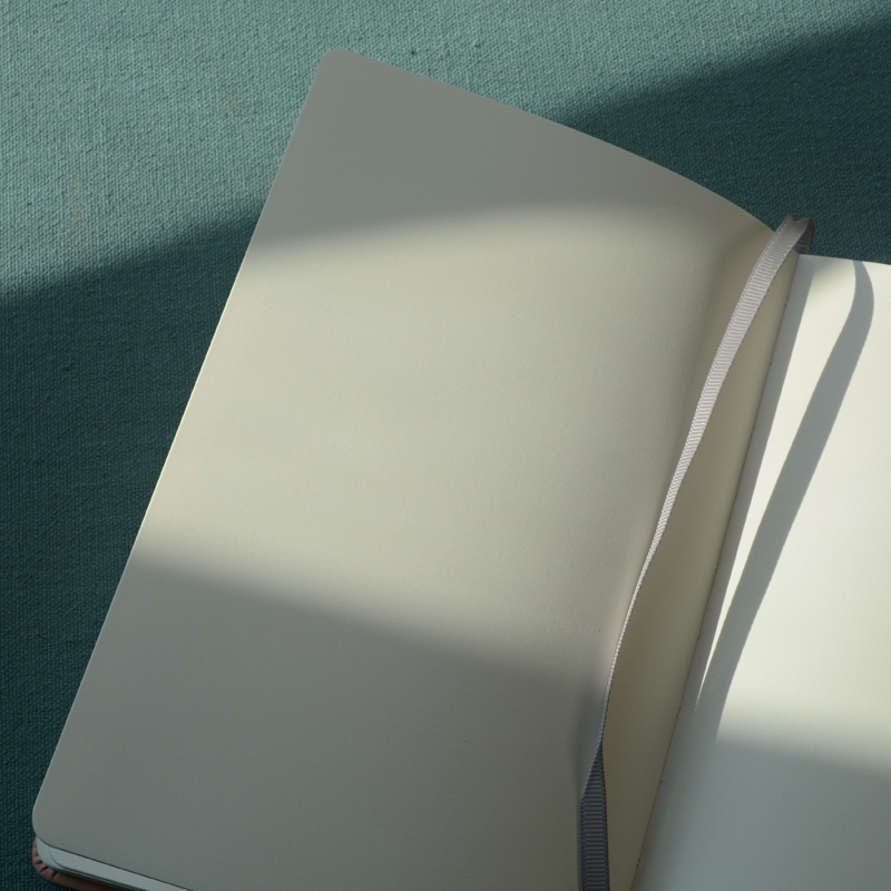 A5 Hard Cover Simple Diary Plain Notebook Blank Journal