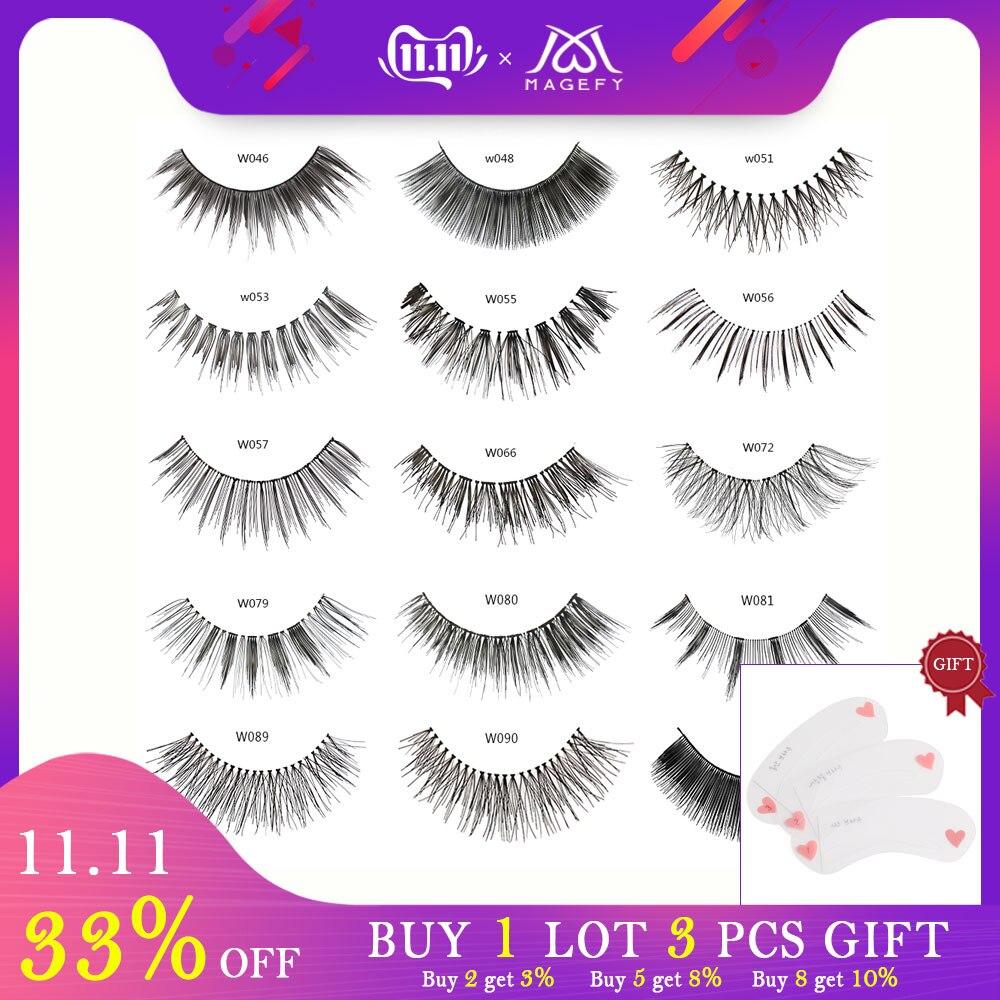 Wholesale 10pairs/lot False Eyelashes Natural Makeup Eyelash Extension Cross Volume Soft Fake Individual Lashes Winged Faux Cils