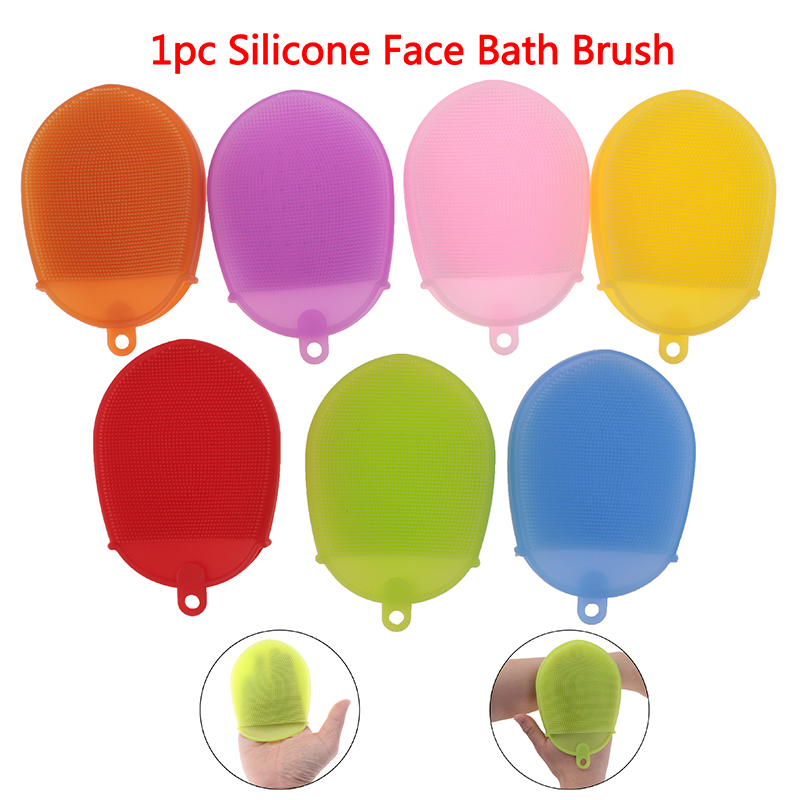 Silicone Anti Cellulite Shower Exfoliating Brush Scrub Skin SPA Massage Scrubber Sponge Face Bath Brush Body Scrubber Glove