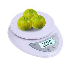 Precisa escala Digital LCD para Cocina Comida portátil cocinar hornear escala equilibrio de peso herramientas Libra LED Postal 5kg/1g