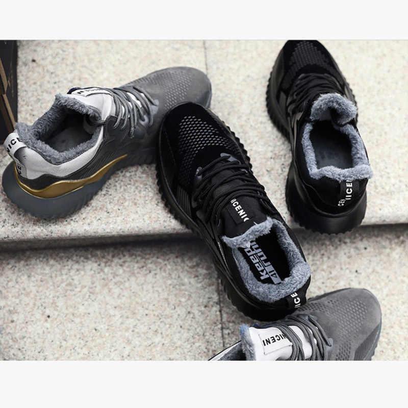 REETENE Mannen Laarzen Mannen Winter Rubber Werk Laarzen Mannen Sneakers Comfortabele Lichtgewicht Mannelijke Laarzen Mode Herfst Winter Mannen Schoenen