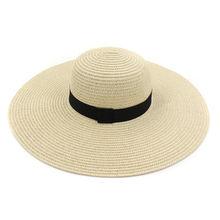 Женские шапки на лето и весну однотонные с лента соломенные
