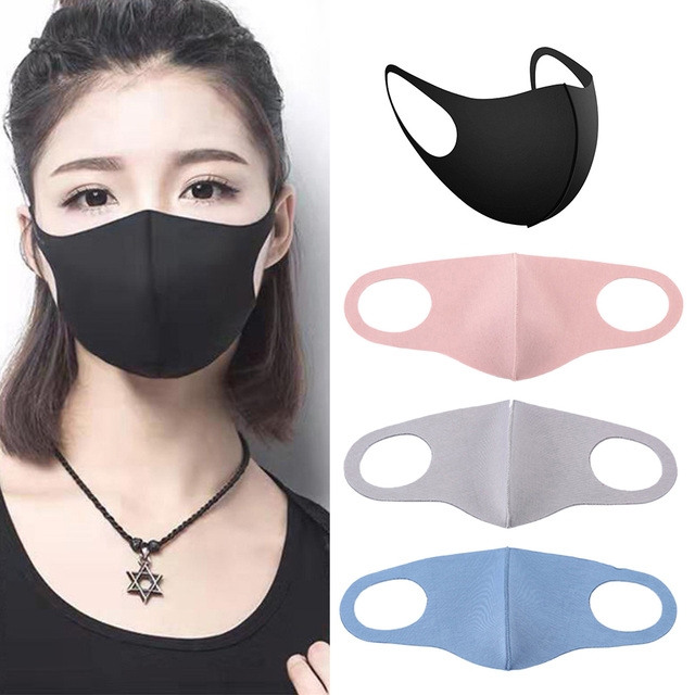 4 Pieces Anti Flu Pollution Mouth Mask Reusable Dust Proof Face Mask 4