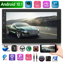 7784AD Double DIN Car Radio Android 10.1 Quad Core 1GB+16GB Multimedia Video Player 2 DIN GPS WiFi Bluetooth AUX Auto Stereo