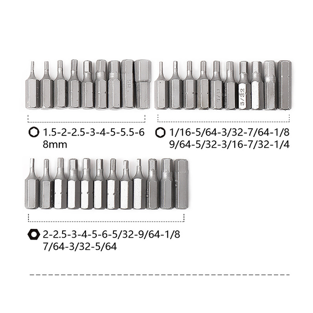 PROSTORMER 100pcs Screwdriver Bit Set Security Chrome Vanadium CR-V Steel Hex Key Phillips Slotted Tri-Wing Repair Hand Tool Kit 6