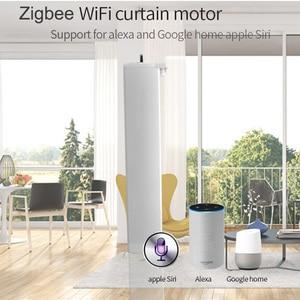 Image 4 - Wifi zigbee motor de cortina elétrico, controle remoto smart home tuya/controle de voz, compatível via alexa echo e google home