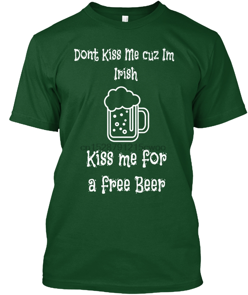 Men T Shirt kiss me for a beer Women T-Shirt
