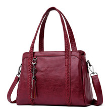 Hot Sale Women Casual Tote Bag Female Handbag Large Big Shoulder Bag for Women Tote Ladies Vintage Genuine Leather Crossbody Bag