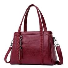 Sıcak satış kadınlar Casual Tote çanta bayan çanta büyük büyük omuzdan askili çanta için kadın büyük el çantası bayanlar Vintage hakiki deri çapraz askılı çanta